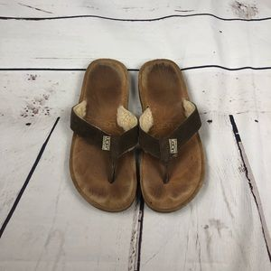 Ugg Brown Fuzzy Sandals